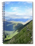 Highline Trail Overlooking Going To The Sun Road - Glacier National Park Spiral Notebook
