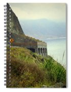 Highway 1 At Lucia South Of Big Sur Ca Spiral Notebook