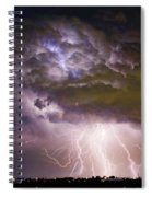 Highway 52 Storm Cell - Two And Half Minutes Lightning Strikes Spiral Notebook