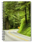 Highway Curve Spiral Notebook