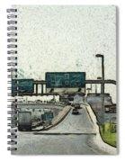 Highway In Dubai Spiral Notebook
