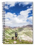 Hiker And Dog Spiral Notebook