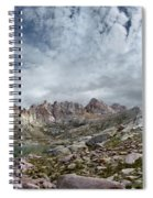 Hiker At Twin Lakes - Chicago Basin - Weminuche Wilderness - Colorado Spiral Notebook
