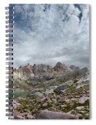 Hiker At Twin Lakes - Chicago Basin - Weminuche Wilderness - Colorado Spiral Notebook