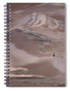 Hiker - Great Sand Dunes - Colorado Spiral Notebook