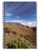 Hikers Inside Haleakala  Spiral Notebook