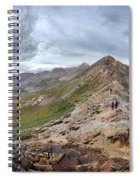 Hikers On Columbine Pass - Weminuche Wilderness - Colorado Spiral Notebook