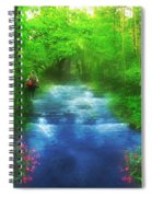 Hiking At The Rivers Edge Spiral Notebook