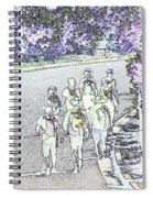 Hiking Down The Street I  Painterly Glowing Edges Invert  Spiral Notebook