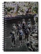 Hiking Down The Street II  Painterly Glowing Edges  Spiral Notebook