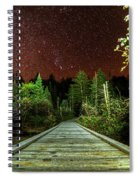 Hiking Into The Night Adirondack Log Keene Valley Ny New York Spiral Notebook