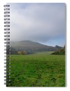 Hill Tops In Mist. Spiral Notebook