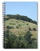 Hill With Haystack And Trees Landscape Spiral Notebook