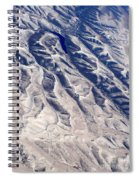 Hills And Valleys Aerial Spiral Notebook