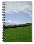Hills Touching The Sky. Spiral Notebook