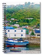 Hillside Along Harbor Near Angelo Fish Market In Puerto Montt-chile  Spiral Notebook