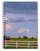 Hillside Hay Bales At Sunset Spiral Notebook