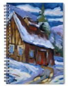 Hillsidebarn In Winter Spiral Notebook
