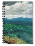 Hilly Landscape Spiral Notebook