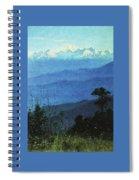 Himalayas In The Evening 1875 Vasily Vereshchagin Spiral Notebook