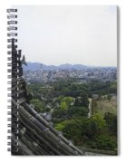 Himeji City From Shogun's Castle Spiral Notebook