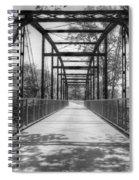 Hinkson Creek Bridge In Black And White Spiral Notebook