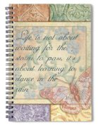 Hint Of Spring Butterfly 2 Spiral Notebook