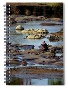 Hippo Raft Spiral Notebook