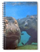 Hippos In Love Spiral Notebook