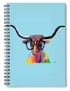 Hipster Longhorn Spiral Notebook