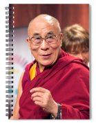 His Holiness The 14th Dalai Lama Photo By Christopher Michel 2012 Spiral Notebook