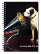 His Master's Voice - Hmv - Dog And Gramophone - Vintage Advertising Poster Spiral Notebook