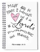 His Purpose Prevails Spiral Notebook