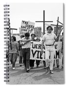 Hispanic Anti-viet Nam War March 1 Tucson Arizona 1971 Spiral Notebook