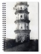 Historic Asian Tower Building Spiral Notebook