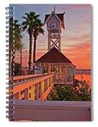 Historic Bridge Street Pier Sunrise Spiral Notebook