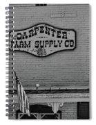 Historic Carpenter Farm Supply Sign Spiral Notebook