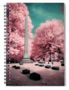 Historic Cemetery In Infrared Spiral Notebook