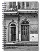 Historic Entrances Bw Spiral Notebook
