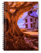 Historic Fermin Point Lighthouse In Infrared Spiral Notebook