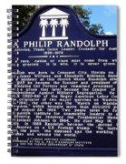 Historic Landmark Church Sign Spiral Notebook