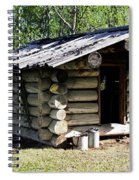 Historic Log Trappers Cabin Spiral Notebook