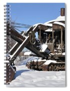 Historic Mining Steam Shovel During Alaska Winter Spiral Notebook