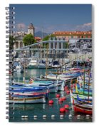 Historic Port Of Nice, France Spiral Notebook