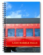 Historic Red Passenger Car, Austin & Spiral Notebook