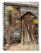 Historic Route 66 - Outhouse 2 Spiral Notebook