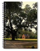 Historic Slave Houses At Boone Hall Plantation In Sc Spiral Notebook