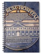 Historic Sydney Hospital - Plaque On Sidewalk Spiral Notebook