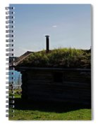 Historic Trappers Log Cabin Spiral Notebook