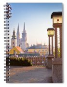 Historic Zagreb Towers Sunrise View Spiral Notebook